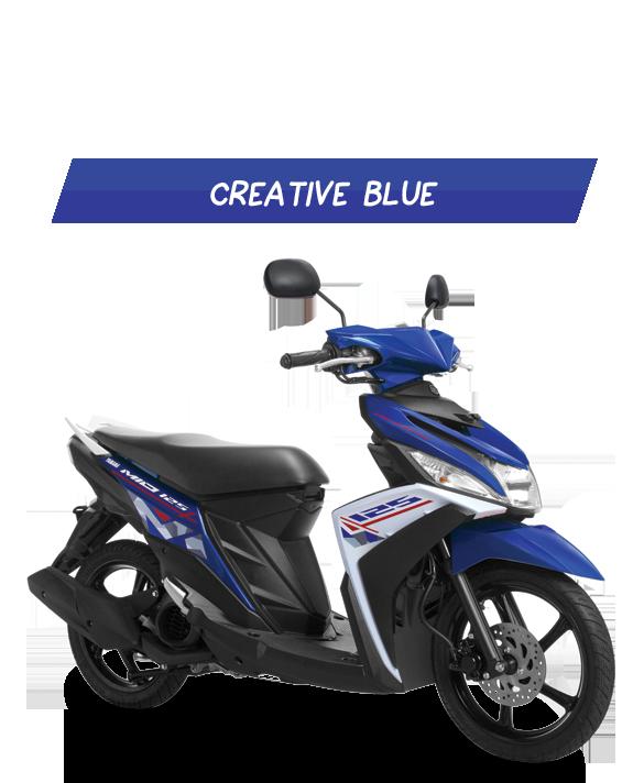 contoh modifikasi mio m3 warna biru