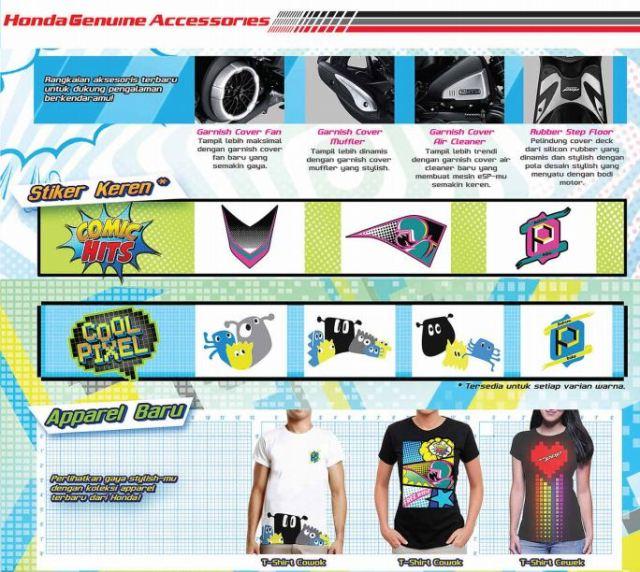Aksesoris New Beat POP eSP Cool Pixel & Comic Hits