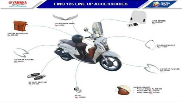 Aksesoris Yamaha New Fino 125 Bluecore