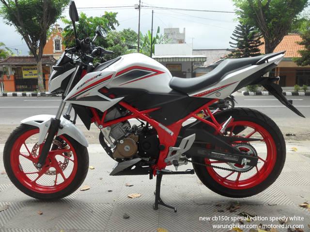 Honda New CB150R Spesial Edition Speedy White (1)