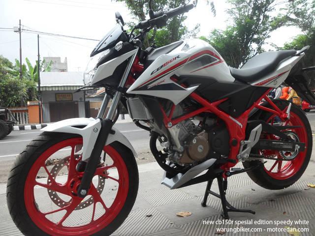 Honda New CB150R Spesial Edition Speedy White 6