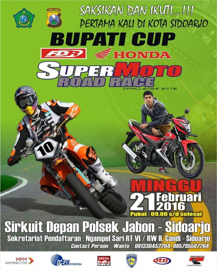 Road  Race Supermoto Jabon Sidoarjo 2016