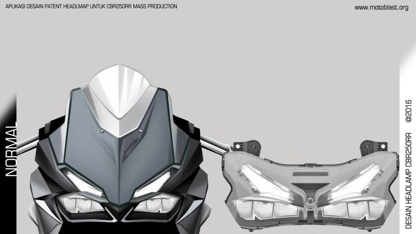 Rendering Aplikasi Patent Headlamp CBR250RR Oleh Motoblast (3)