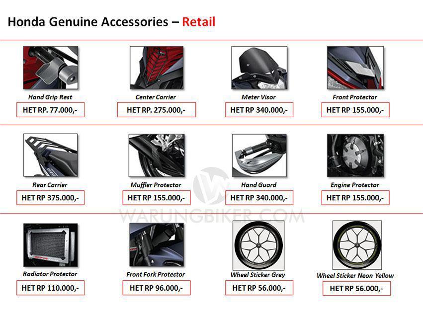 Intip Yuk Harga Accessories, Customized Parts dan Apparel Supra GTR 150 (1)