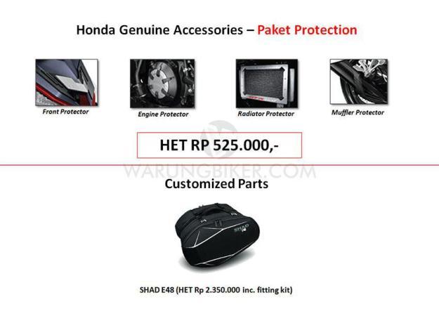 Intip Yuk Harga Accessories, Customized Parts dan Apparel Supra GTR 150 (2)