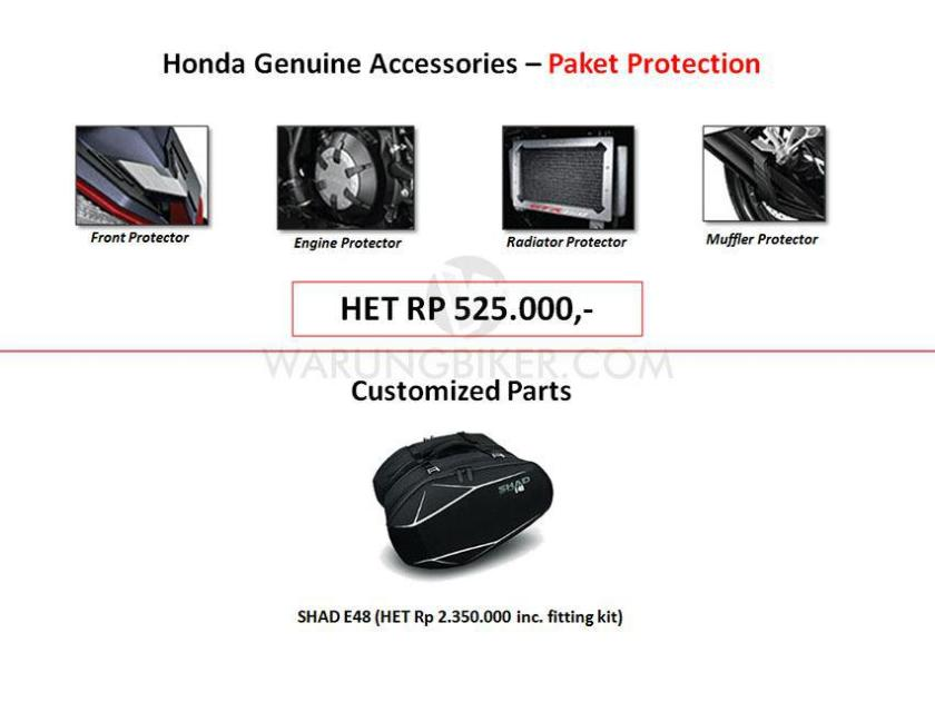 Intip Yuk Harga Accessories, Customized Parts dan Apparel Supra GTR 150 (2)