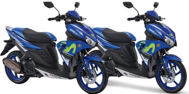 "Yamaha Rilis Aerox 125LC Livery ""motoGP"", Harga Lebih mahal 400 Ribu di Banding Versi Reguler"