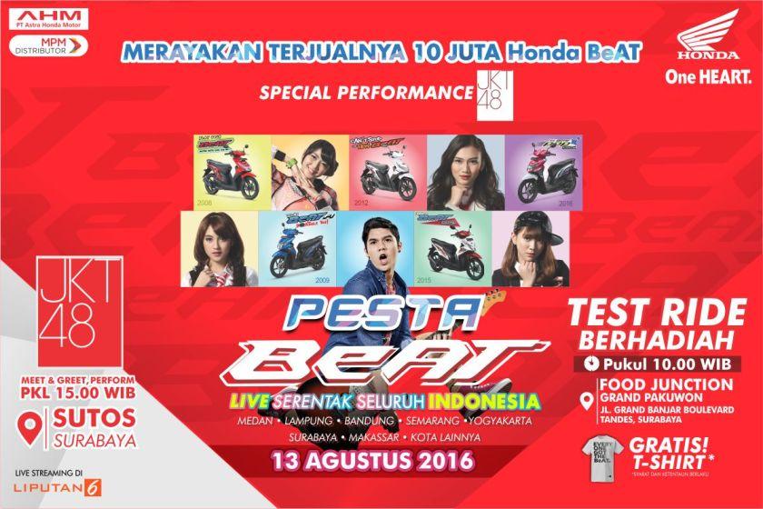 Serentak Seluruh Indonesia, Pesta Beat Surabaya di Gelar di SUTOS