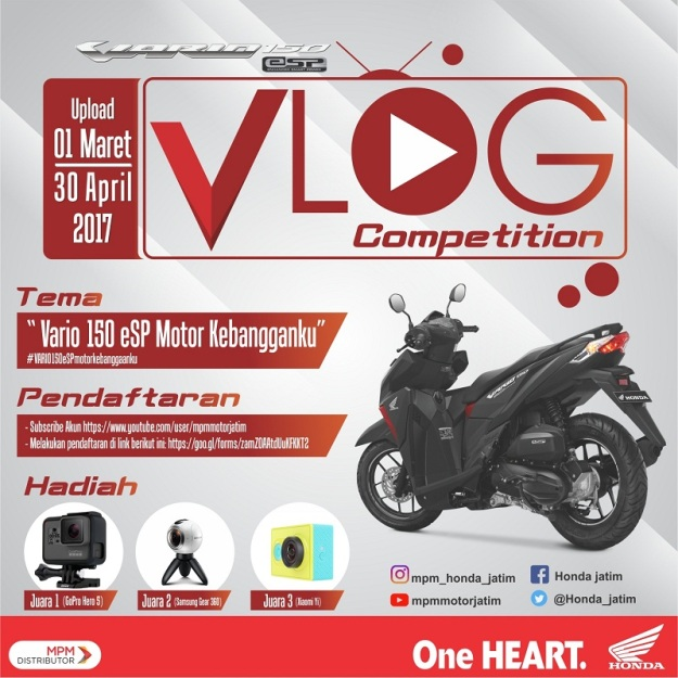 Honda Jatim Gelar Vlog Competition, Berhadiah Gopro Brosis.jpg