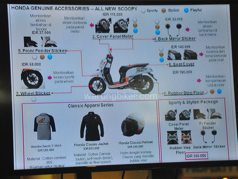Aksesoris Resmi Honda All New SCOOPY 2017
