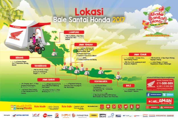 Lokasi Bale Santai Honda 2017