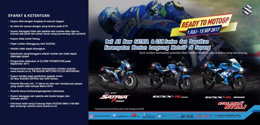 Harga Promo Suzuki GSX-R150 dan GSX-S150 Lanjut Hingga Akhir Juli, Ada Undian Nonton Langsung MotoGP Sepang 2017