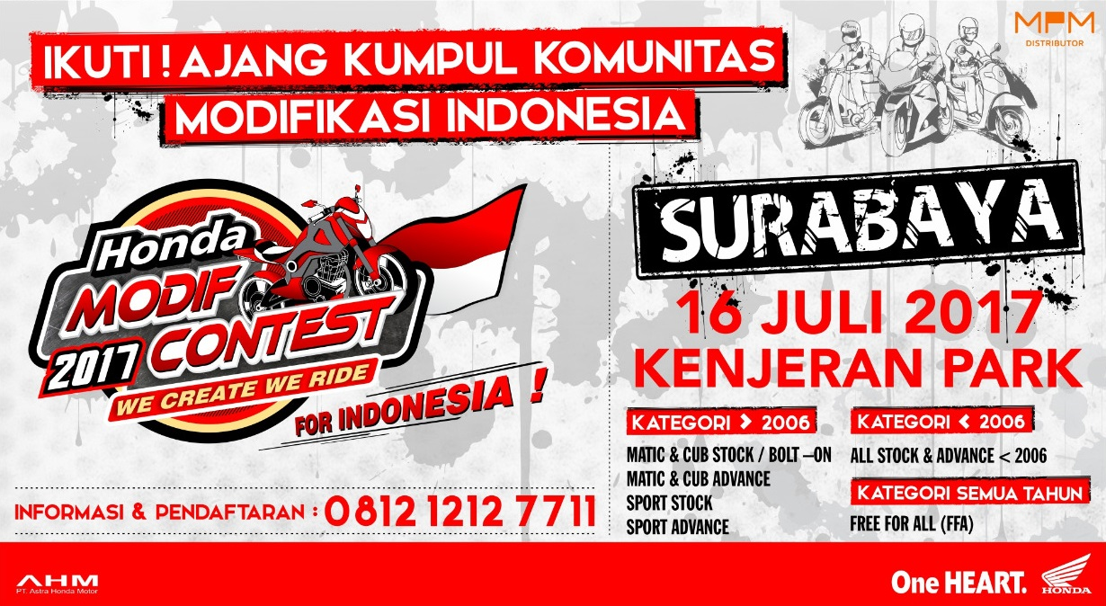 Pekan Depan, Honda Modif Contest 2017 Singgah di Kota Pahlawan Surabaya, Jangan Lupa Merapat