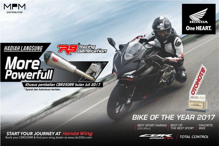 Periode Juli 2017, Beli Honda CBR250RR Dapat Hadiah Langsung Knalpot Racing R9.jpg