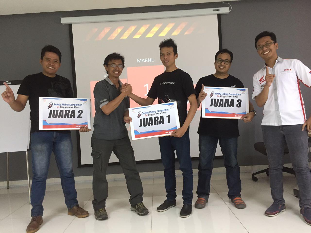 Perdana, MPM Gelar Kompetisi Safety Riding For Blogger Jatim, Seru Mas bro!