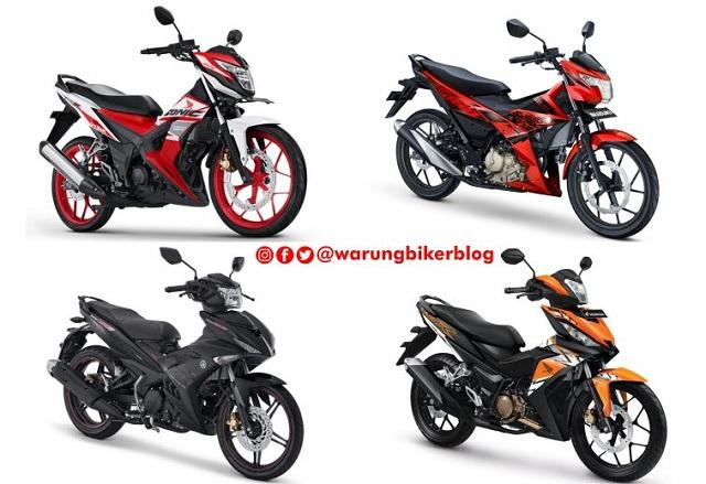 Data AISI September 2017, Kelas Bebek Sport 150 CC, Yamaha MX King 150 Digdaya, Suzuki Satria F 150 Paling Buncit