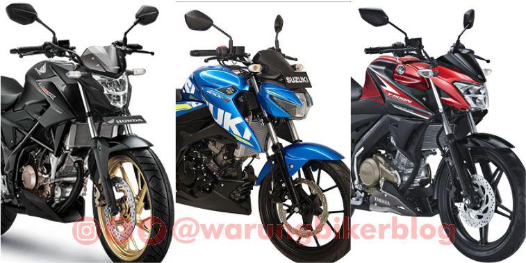 Data AISI September 2017, Meski Turun, Penjualan Honda CB150R Unggul atas Yamaha Vixion dan Suzuki GSX-S150