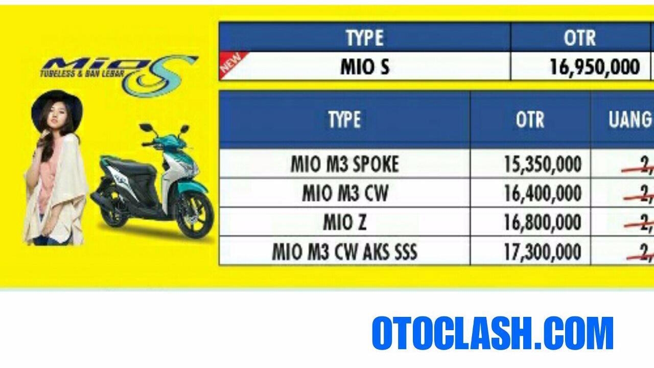 Harga Yamaha Mio S Plat AG-AE