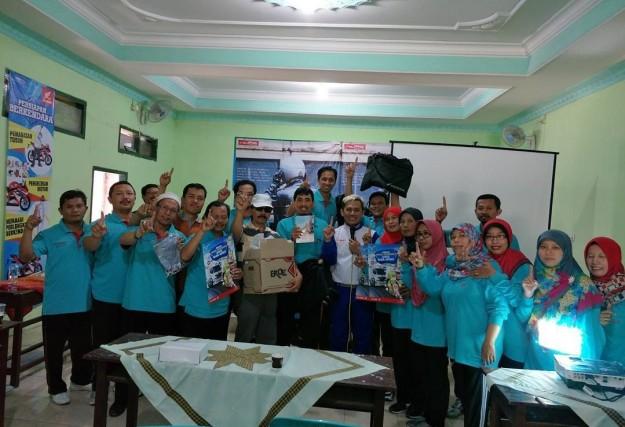 Kampanye #Cari_Aman, MPM Honda Jatim Gelar Safety Riding di DEPAG Kota Kediri (1)