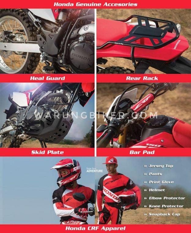 Aksesoris Honda CRF150L