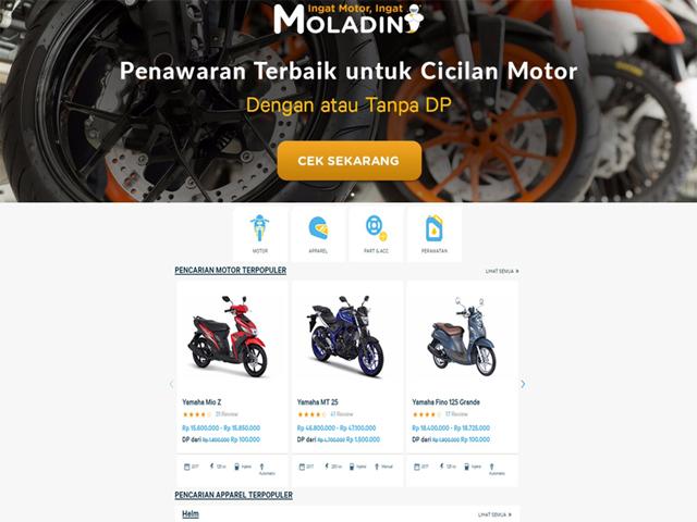 Rilis Website Anyar, Moladin Tawarkan Kemudahan Untuk Bikers!