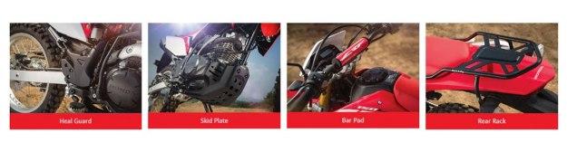 Ragam Aksesoris Resmi Honda CRF 150L, Harga Mulai Rp.100Ribuan
