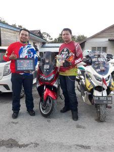 Yudi Kusuma (kanan) Ketua Umum Yamaha NMAX Club Indonesia (YNCI) saat di Serikin Sarawak, Malaysia