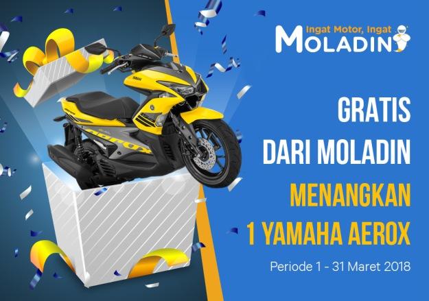 Ajak Teman Beli Motor di Moladin dan Menangkan Yamaha Aerox 155VVA