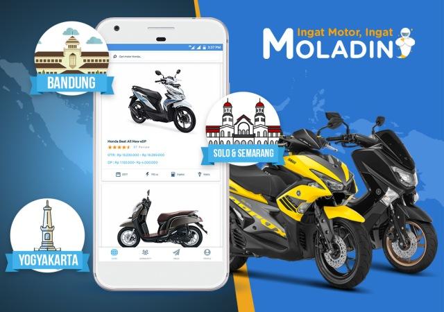 Lebih Mudah, Kini Warga Bandung, Jogja, Solo dan Semarang Bisa Beli Motor Lewat Moladin