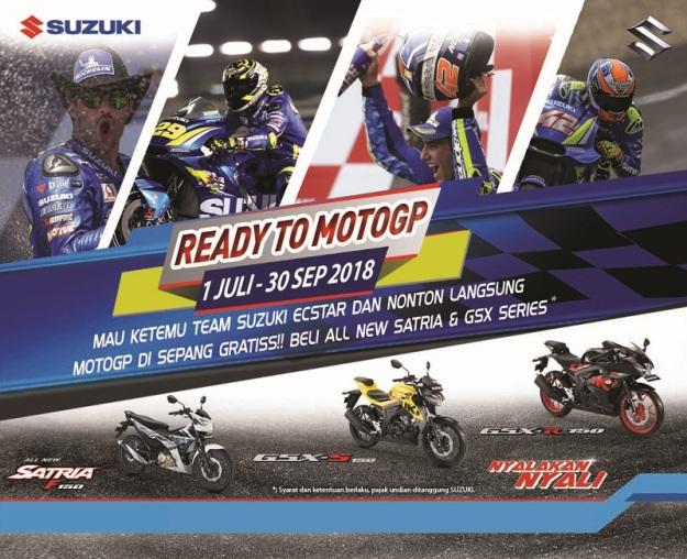 Beli Motor Baru Suzuki Bisa Nonton MotoGP 2018 di Sepang