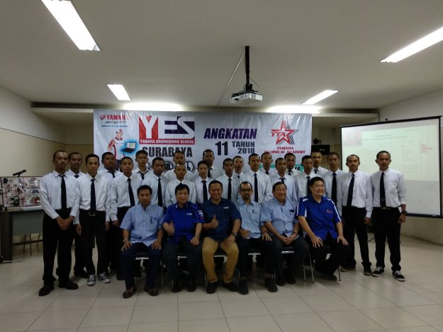 Yamaha Engineering School (YES) Angkatan 11 tahun 2018, 22 Siswa Pilihan Siap di Gembleng oleh Yamaha Jatim!