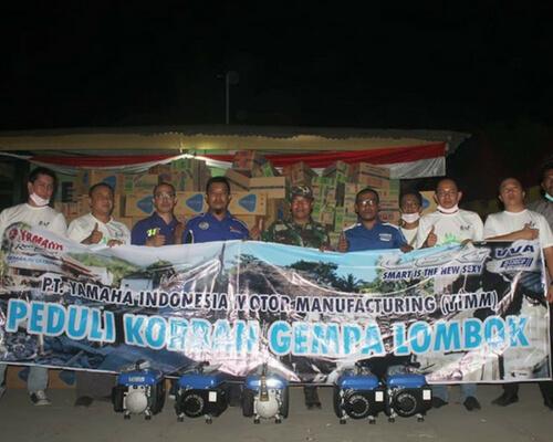 CSR, Yamaha dan BAF Salurkan Bantuan Kepada Korban Gempa di Lombok