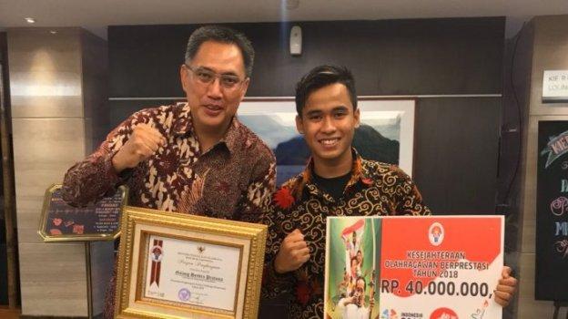 Galang Hendra Pratama Jadi Olahragawan Berprestasi Tahun 2018