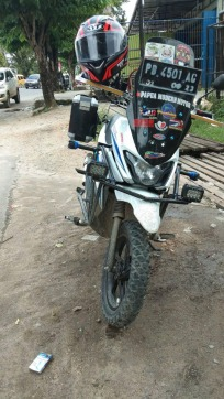 Naik Suzuki NEX II, Bikers Papua ini Nekat Solo Touring Hingga Jakarta (7)
