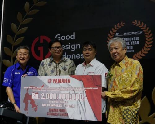 Peduli Korban Bencana di Sulawesi Tengah, Yamaha Sumbang Dana 2M dan 40 Generator