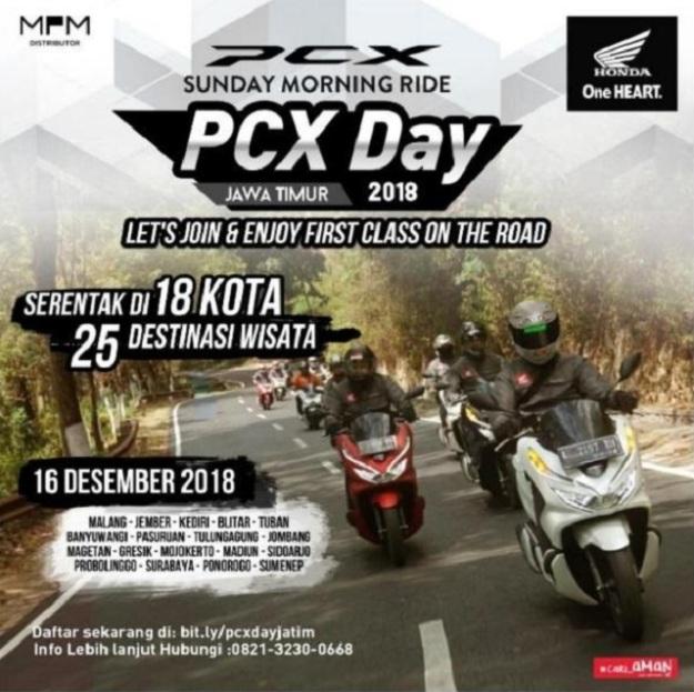 MPM Gelar Sunmori PCX Day 2018, Serentak di 18 Kota Jawa Timur