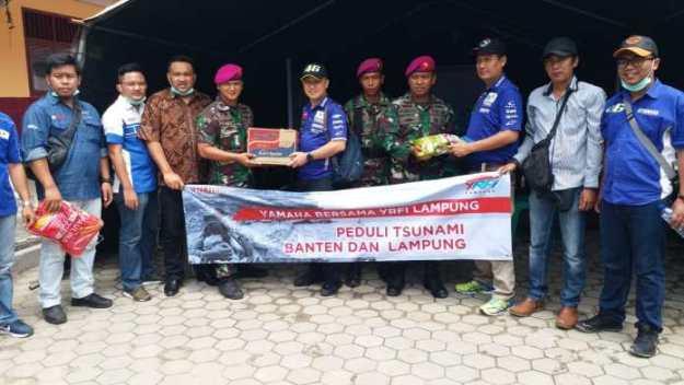 peduli sesama, yamaha berikan bantuan untuk korban tsunami selat sunda