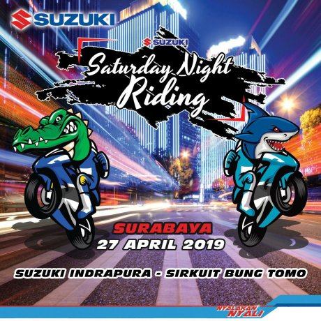 Gandeng SMG Indrapura, Suzuki Gelar Saturday Night Riding Jawa Timur 2019 (1)