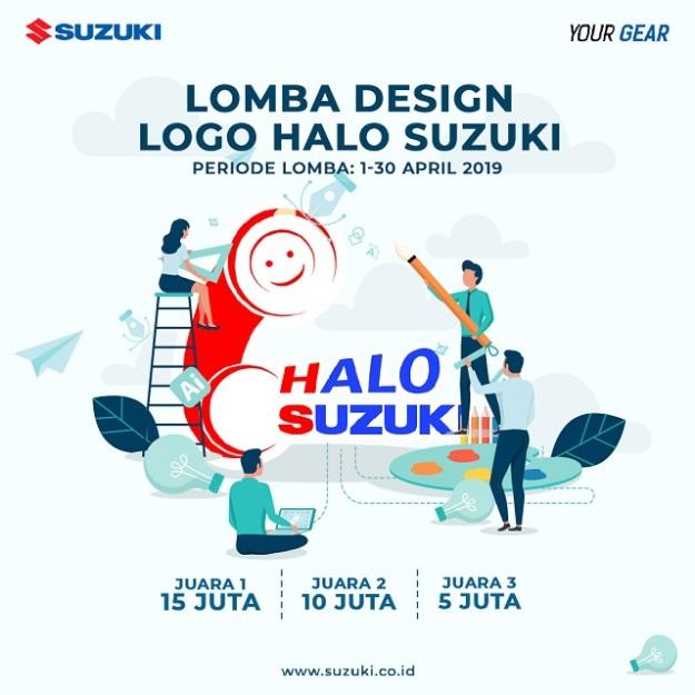 SIS Gelar Lomba Desain Logo Halo Suzuki, Berhadiah Puluhan Juta Rupiah!
