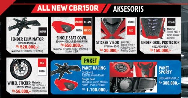 Ragam Aksesoris Resmi All New Honda CBR150R Terbaru 2019 (1)
