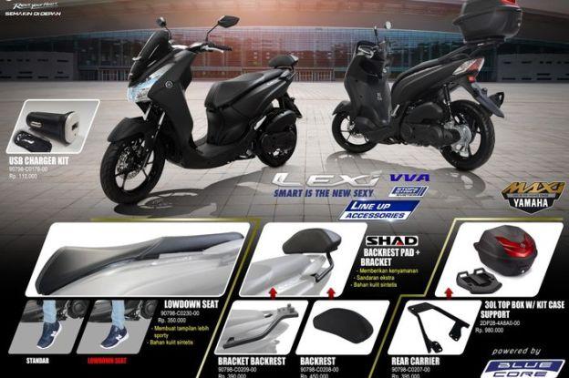 aksesoris Yamaha Lexi