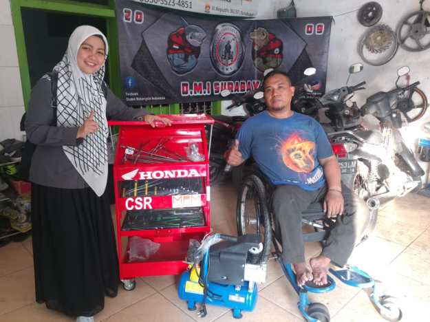 Peduli Sesama, MPM Berikan Bantuan Tool Kepada Bengkel Mandiri Difabel