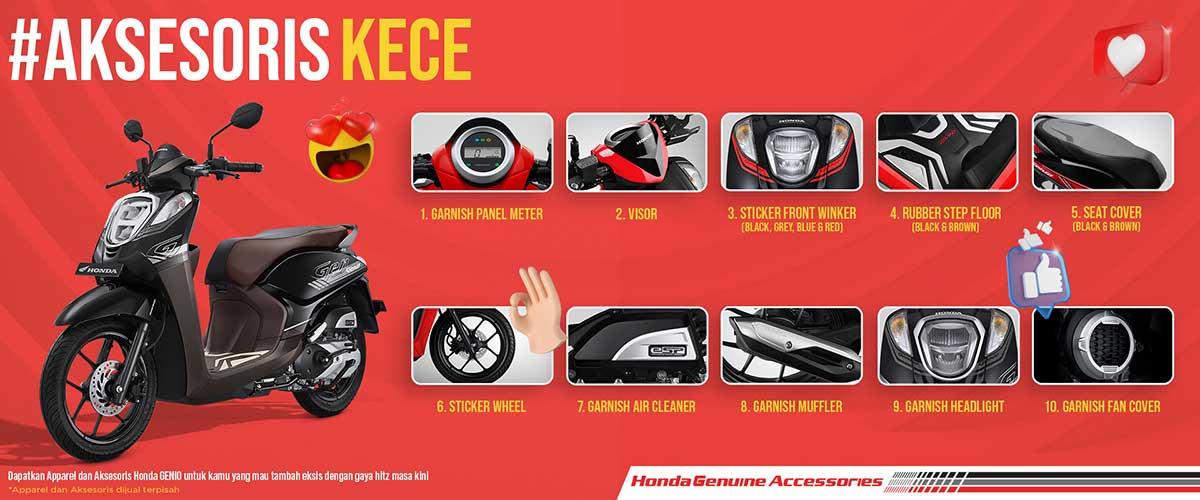 10 Aksesoris Resmi Honda Genio Terbaru 2020
